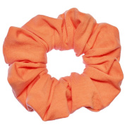 Peach Cotton Jersey Scrunchies Large Jumbo Ponytail Holders Scrunchie King Made in the USA