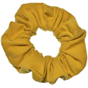 Mustard Cotton Jersey Scrunchies Large Jumbo Ponytail Holders Scrunchie King Made in the USA