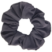 Charcoal Cotton Jersey Scrunchies Large Jumbo Ponytail Holders Scrunchie King Made in the USA
