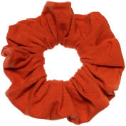 Burnt Orange Cotton Jersey Scrunchies Large Jumbo Ponytail Holders Scrunchie King Made in the USA