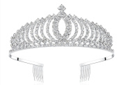 Lovelyshop Rhinestone ModernTiara with Comb for Prom Birthday Prinecess Party