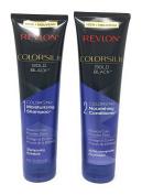 Revlon Colorsilk Colorstay Moisturising Shampoo and Nourishing Conditioner Set, Bold Black, 250ml each (Bundle