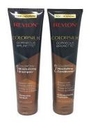 Revlon Colorsilk Colorstay Moisturising Shampoo and Conditioner Set, Gorgeous Brunette, 250ml each (Bundle