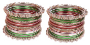 Bollywood Fashion Style Multi Silver Plated Indian Bangles Party wear Jewellery