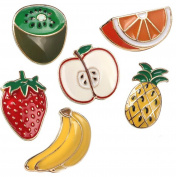 Pineapple Banana Strawberry Fruit T-shirt Scarf Badge Brooch and Pin Set for Women Children