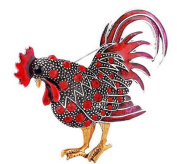Chickens Cock Rooster Animal Suit Brooch Shirt Corsage Brooch and Pin for Women Men