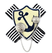 Anchor Rudder Navy Badge College Wind Brooch Shirt Corsage Brooch and Pin for Women Men Students