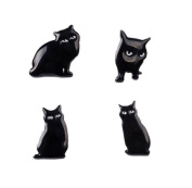 Gudeke Animal Black Cat Set Brooch Shirt Corsage Brooch and Pin for Children Women Men