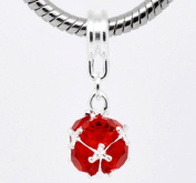 SEXY SPARKLES Women's Birthstone Dangle Ball Spacer Bead Charm