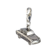 Official Sterling Silver Ford Anglia Flying Car Clip on Charm - Boxed