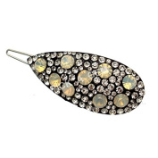 A Beautiful Crystal and Opal Stoned Hair Clip / Flower Girl