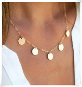 Multiple Disc Charm Necklace