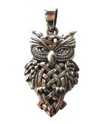 Sterling Silver 925 Wise Old Owl Pendant