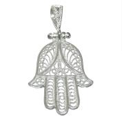 925m silver pendant hand law Fatima Filigree 24mm [AB2778]