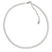 Precious Pieces Girl's Sterling Silver Flower Girl Pearl Necklace for Girls 30cm - 36cm