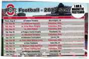 Ohio State Buckeyes 2017 Football Schedule Magnet