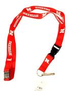 NCAA Nebraska Cornhuskers Team Colour Lanyard, 60cm , Red