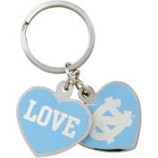 North Carolina Tar Heels Love Keychain