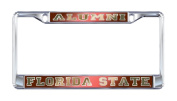 Florida State University Alumni Seminoles Mirror Domed Licence Plate Frame