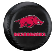 Arkansas Razorbacks Black Tyre Cover - Standard Size