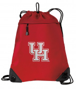 UH Drawstring Backpack Bag University of Houston Cinch Pack - UNIQUE MESH & MICROFIBER