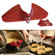 Cooking Tool,Hot Silicone Soup Funnel Kitchen Gadget Tools Water Deflector Cooking Tool New