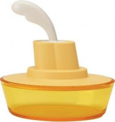 A Di Alessi Ship Shape Butter Dish Sweet Yellow Asg13 Sw New - Fast Delivery