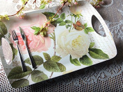 Creative Tops Rose Garden Large Luxury Melamine Serving Tray, Multi-colour