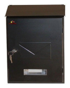 Home Design Hdm-1610 Steel Postboxes Letterboxes Key Lock - 2 Colours