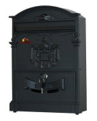 Hdm-100 Mailbox With Regal Crest - Red / Black
