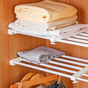 Adjustable Storage Rack Shelf For Kithchen Cupboard Refrigerator Wardrobe