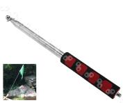 Black Red 2m Portable Extendable Handheld Windsock Telescopic Flag Pole
