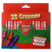 Official Arsenal Fc 32 Colouring Crayons Bright Colours