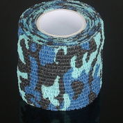 HMR 1 Roll 5cm Wide Self-adhesive Non-woven Adhesive Duct Tape Ribbon Camouflage Waterproof Hunting Camping Tape Wraps