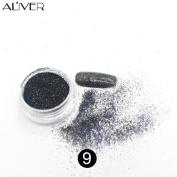 Nail Glitter Powder, Fullfun 12 Colour Glitter Eyeshadow and Nail Makeup Powder