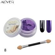 Nail Mirror Powder, Fullfun Nail Glitter Powder 12 Colours Nail Art Make Up Body Glitter Shimmer Dust Powder Decoration