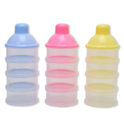 AISme 1PC Baby Infant Feeding Milk Powder Food Box Storage Bottle Container 4 Layers Food Grade PP Material