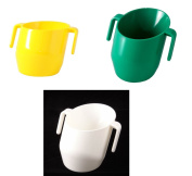 Doidy Cup Bundle - Green & Yellow & White - SOLID COLOUR 3 Items