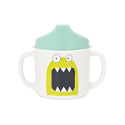 Lassig Baby 2-Handle Cup with Lid & Silicone, Little Monsters Bouncing Bob