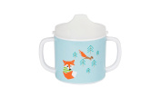 Lassig Baby 2-Handle Cup with Lid & Silicone, Little Tree Fox