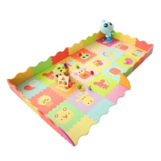 SmartDon Non-Toxic Large Extra Thick(1.4cm ) With Gates Baby Crawling Mat Kids Play Mat (Zoo