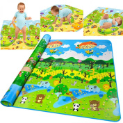 Gosprint Baby Crawling Mat Foam Waterproof 200180CM5MM Large Thickness Toddler Activity Playmat