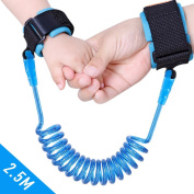 Child Baby Anti Lost Wrist Link Wrist Strips Flexible Safety Hook and loop Wrist Leash for Kids Baby Toddlers -250cm