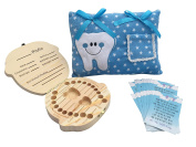 Tooth Fairy Kit - 1 Tooth Fairy Pillow Boy - 1 Tooth Fairy Box - 20 Tooth Fairy Letter
