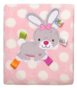 Beauty Bunny Snuggle Blanket and Security Toy with Bunny Rabbit Head