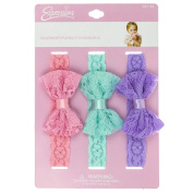 INFANT 3PC LACE BOW HEADWRAP