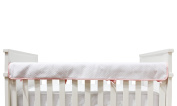 Living Textiles Diamond Matelasse Crib Railing Pink, Grey