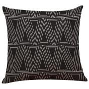 Pillow Covers,Vovotrade Vintage Black & White Cotton Linen Throw Cushion Cover Pillow Case Home Decor 46cm x 46cm
