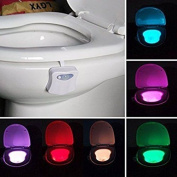 Motion Sensor Led Toilet Bowl Night Light, Kingcenton Battery Operated Energy 8
