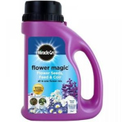 Miracle-gro 1kg Flower Magic Flower Seeds With Feed And Coir Mix Jug Blue White